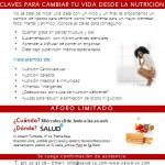 Charla y degustación de producto: claves para cambiar tu vida desde la nutrición